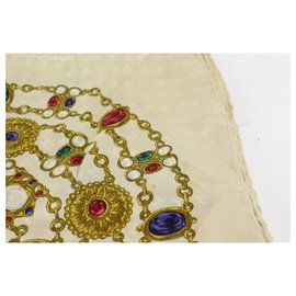 Chanel-Multicolor Gripoix Silk Scarf-Other