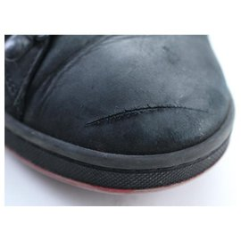 Louis Vuitton-MENS US 6.5 Black Nubuck Varsity Sneaker-Other