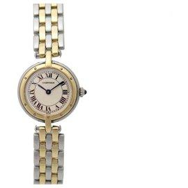 Cartier-VINTAGE MONTRE CARTIER PANTHERE VENDOME 166920 PM W25030B6 QUARTZ 24 MM OR ACIER-Argenté