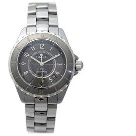 Chanel-Chanel J watch12 H2979 CHROMATIC 38 MM AUTOMATIC CERAMIC WATCH-Grey