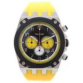 Autre Marque-NEW MARANELLO V WATCH8 Chrono 44 MM QUARTZ STEEL RUBBER STEEL WATCH-Yellow