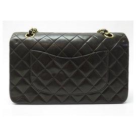 Chanel-VINTAGE HANDBAG CHANEL CLASSIQUE TIMELESS MEDIUM QUILTED LEATHER BAG-Brown
