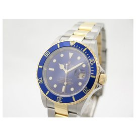 Rolex-NEW ROLEX SUBMARINER WATCH 16613T 40 MM AUTOMATIC GOLD & STEEL GOLD NEW WATCH-Silvery