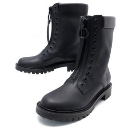 Christian Dior-NEW CHRISTIAN DIOR BOOTS BOLD 38.5 39.5 BLACK LEATHER BOOTS-Black