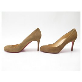 Christian Louboutin-NEW CHRISTIAN LOUBOUTIN SIMPLE PUMP PUMPS 40.5 BROWN SUEDE SHOES-Brown