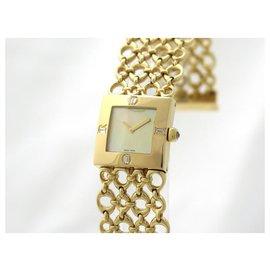 Dior-NEUF MONTRE DIOR 20 MM EN OR JAUNE 18K ET DIAMANTS DIAMONDS & GOLD WATCH-Doré