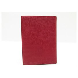 Hermès-NEW HERMES SINGLE PM AGENDA COVER IN RED MYSORE GOAT LEATHER COVER-Red