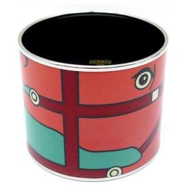 Hermès-NEW HERMES QUADRIGE EXTRA LARGE T BRACELET19 65MM ENAMEL JEWEL ENAMEL-Multiple colors