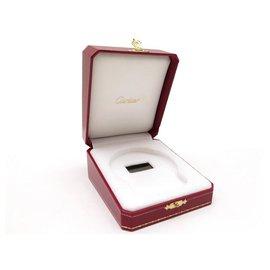 Cartier-VINTAGE BOITE POUR REVEIL CARTIER PENDULETTE EN CUIR ROUGE CLOCK BOX-Rouge