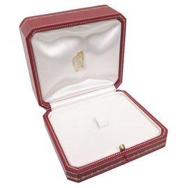 Cartier-NEUF VINTAGE BOITE CARTIER POUR PENDENTIF EN CUIR ROUGE NEW LEATHER PENDANT BOX-Rouge