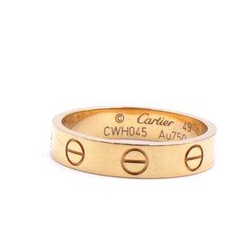 Cartier-Cartier Or jaune 18k Love Taille de la bague de mariage 49-Doré