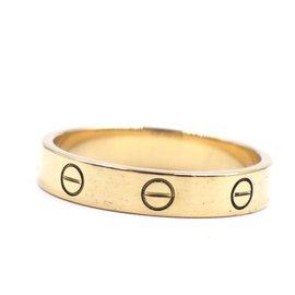 Cartier-Cartier Or jaune 18k Love Taille de la bague de mariage 59-Doré