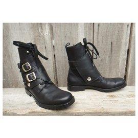 Dolce & Gabbana-Dolce & Gabbana p ankle boots 37-Black