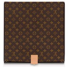 Louis Vuitton-Boîte en vinyle LV nouvelle boîte à pizza en édition limitée-Marron