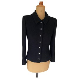 Chanel-Black jacket-Black