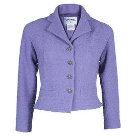 Chanel-CC Jewel Buttons Jacket-Lavender