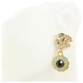 Chanel-05A Crystal CC Flower Drop Single Earrings-Other