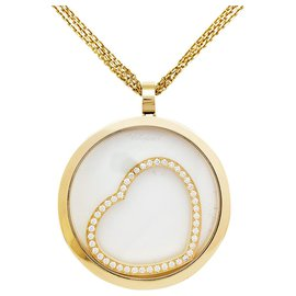 """Chopard-Chopard """"Happy Diamonds"""" necklace in yellow gold and diamonds.-Other"""