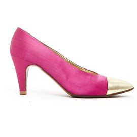 Chanel-HAUTE COUTURE FR37 PINK SATIN-Pink,Golden