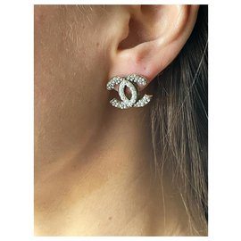 Chanel-Chanel brooch and earrings-White