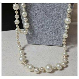 Chanel-Chanel Chanel 10a Faux Pearl Cc Logo Belt Necklace-Multiple colors