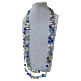 Chanel-Chanel CM-07 A Natural Color Stone Long Necklace-Multiple colors