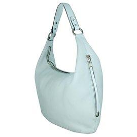 Rebecca Minkoff-White Leather Hobo Bag-White
