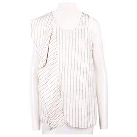 3.1 Phillip Lim-Oversize Stripes Top-White
