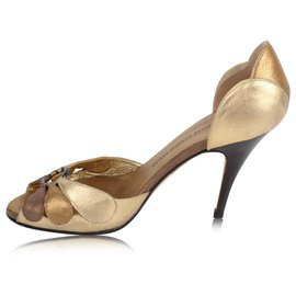 Giuseppe Zanotti-gold sandals-Golden,Metallic