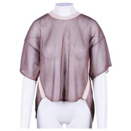 3.1 Phillip Lim-Pink Metallic Top-Pink