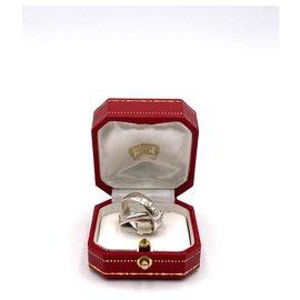 Cartier-Bague en or Cartier Trinity 18kt blanc Taille 54-Argenté
