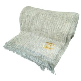 Chanel-Chanel scarf-White