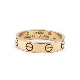 Cartier-Cartier Or jaune 18k taille de bague d'amour 49-Doré