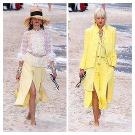 Chanel-Culottes from Runway 2019-Yellow