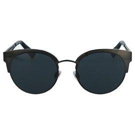 Dior-Lunettes de soleil à monture ronde en acétate-Noir