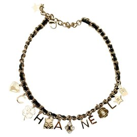 Chanel-CHANEL necklace with pendants-Gold hardware