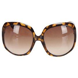 Dior-Dior Marron Brillant 1 Lunettes de soleil carrées teintées-Marron,Jaune
