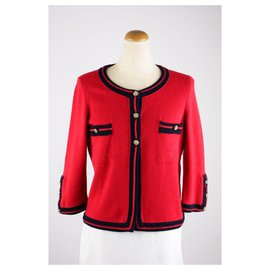 Chanel-Rare Cashmere Jacket-Red