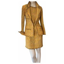 Chanel-Skirt suit-Yellow