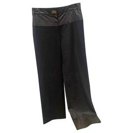 Chanel-Pants, leggings-Black
