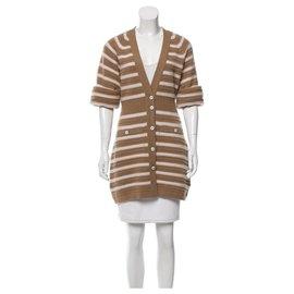 Chanel-Gisele Bundchen Cardigan-Beige