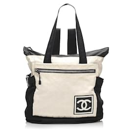 Chanel-Black x White New Line 2way Convertible Backpack-Other