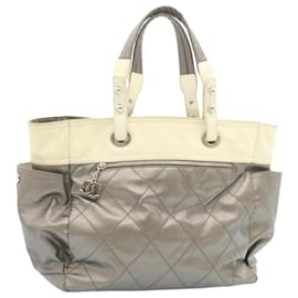 Chanel-Chanel tote bag-Silvery