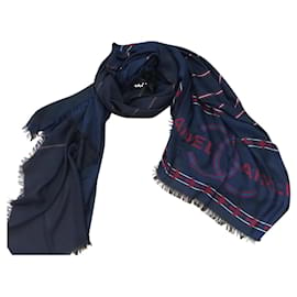 Chanel-CHANEL STOLE / PAREO-Navy blue