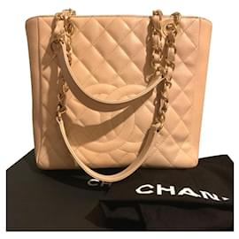 Chanel-Chanel PST Petite shopping Tote bag-Beige