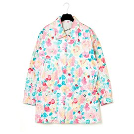 Chanel-RARE EARLY 90s FLOWER OVERSIZE PARKA-Multiple colors