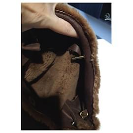 Chanel-Chanel brown shoulder tote bag-Brown