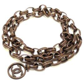 Chanel-Chanel belt-Brown