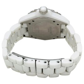 Chanel-CHANEL WATCH, J collection12, in white ceramic.-Other