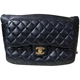 Chanel-Chanel Seoul Lamb Black Backpack-Black